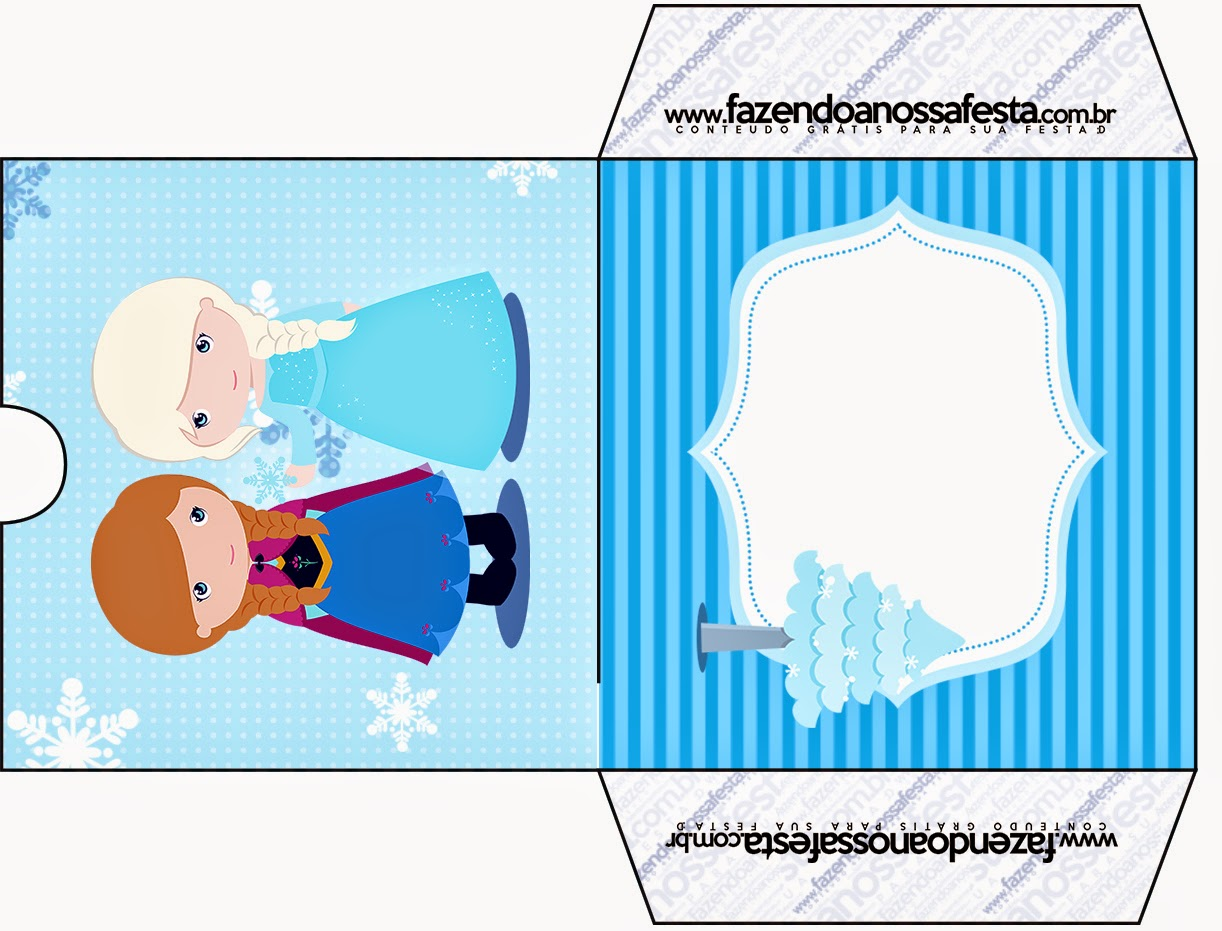 Funda CD´s para Imprimir Gratis de Frozen Niñas para Navidad Azul.