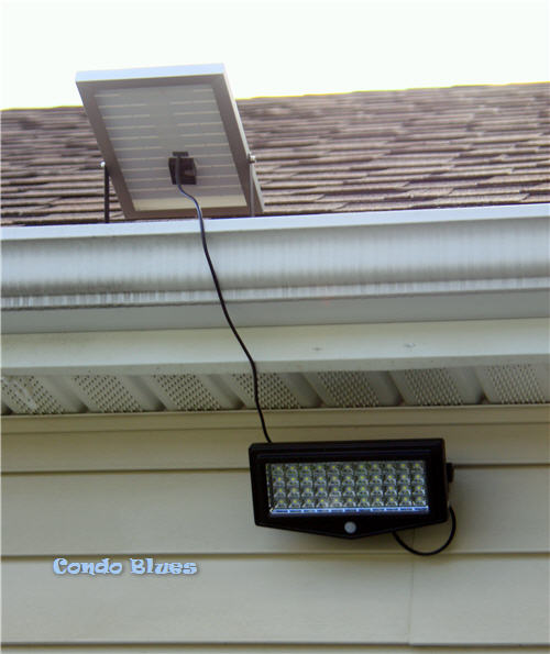 How to install a quick and easy motion activated solar security light
