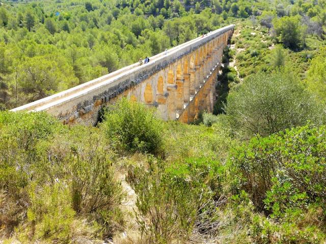 Acueducto de Tarragona, Acueducto de les Ferreres, vista superior