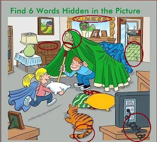 Six Words Hidden in this picture brain teaser solution