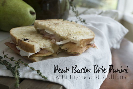 Pear Bacon Brie Panini