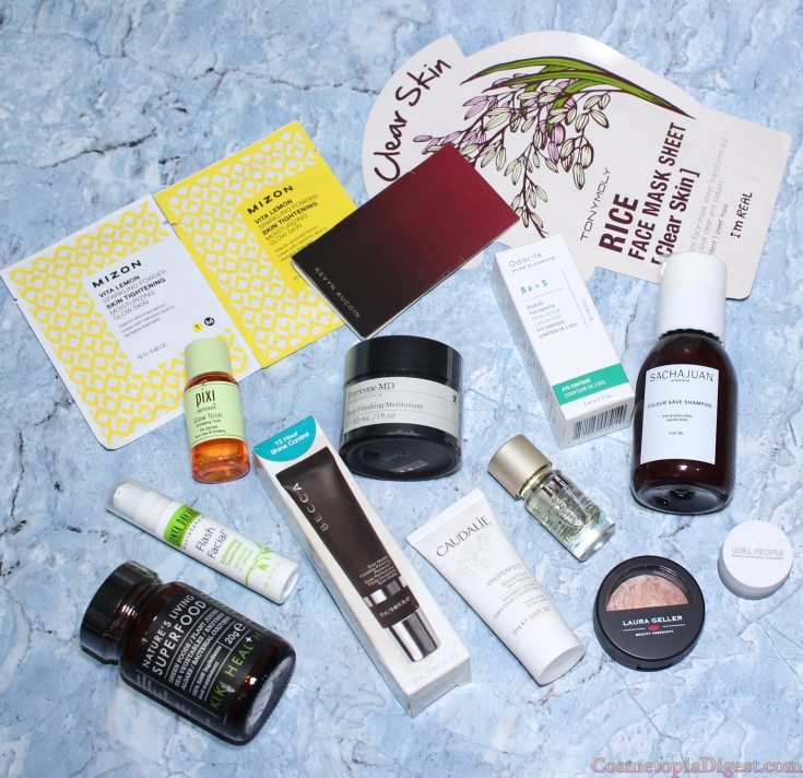 Contents of the Cult Beauty Bag for Summer 2016.