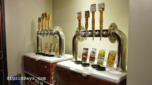 Farm to Table Iloilo restaurant draft beers