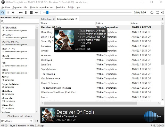 Audacious 4.0.3 + Portable - Reproductor de audio liviano y portable