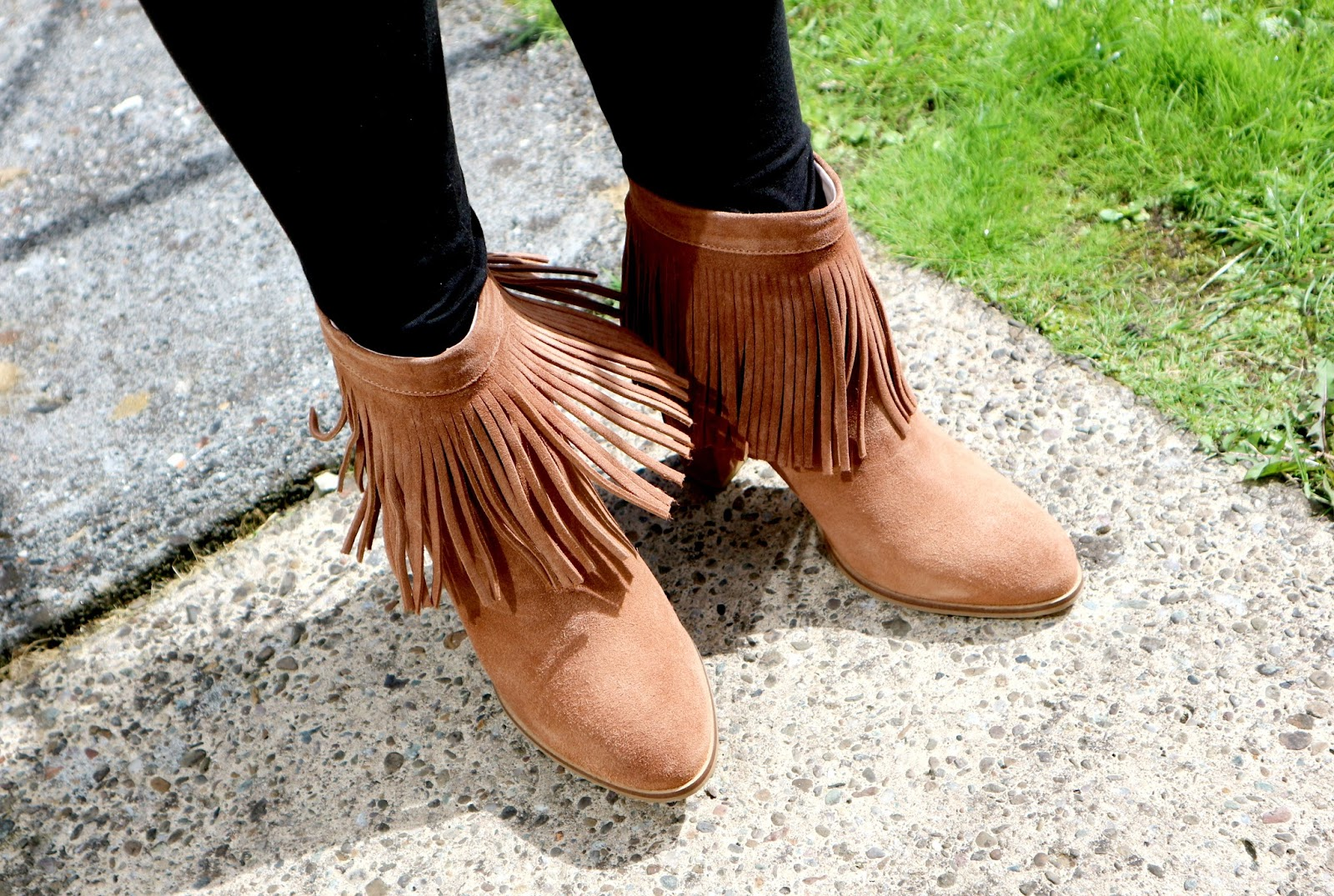 Autumn Winter Fringed Suede Boots