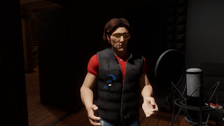 Tom Boellstorff as his avatar in Sansar