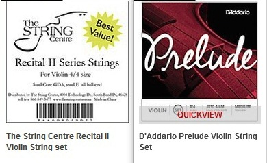 Choosing the right strings for your violin