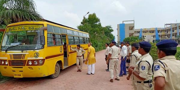 बाफना पब्लिक स्कूल की बसों पर आरटीओ ने की कार्रवाई चार बसों के परमिट व फिटनेस निरस्त