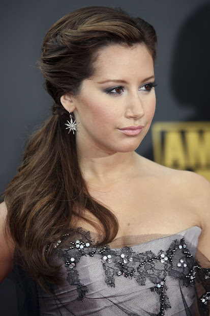 celebrities long ponytail hairstyles