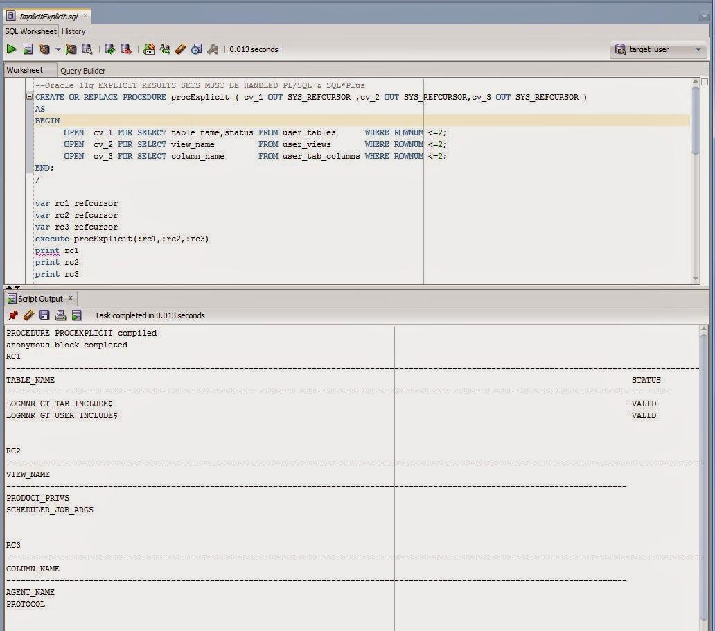 Oracle 12c Implicit Result Sets In SQL Developer 4.1