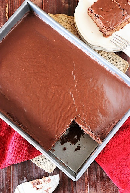 Chocolate Syrup Cake with Chocolate Frosting Image