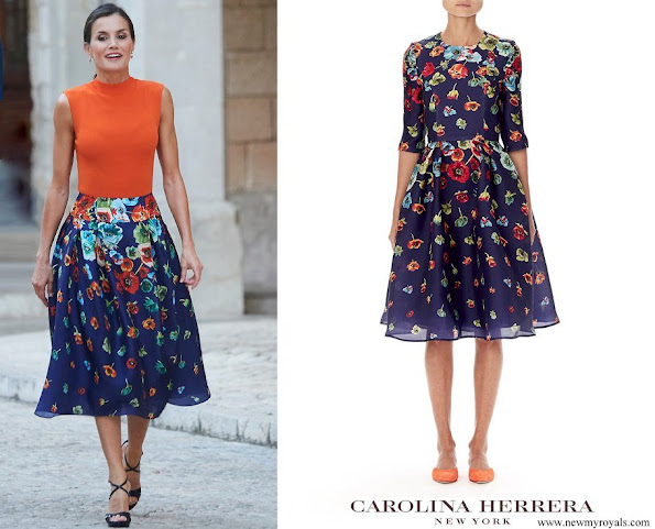 Queen Letizia wore CH Carolina Herrera skirt from Resort 2019 Collection
