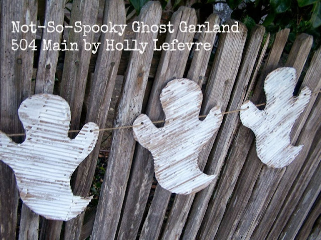 Easy Ghost Garland by 504 Main