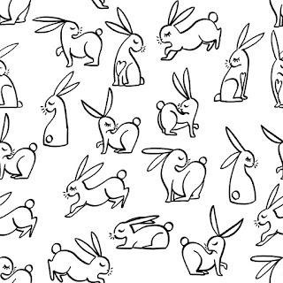 lapin rabit motif pattern graphisme