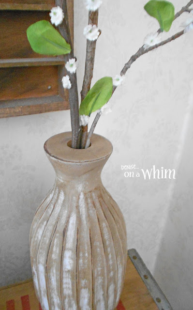 Thrift Store Vase Makeover and DIY Twig Flowers | Denise on a Whim