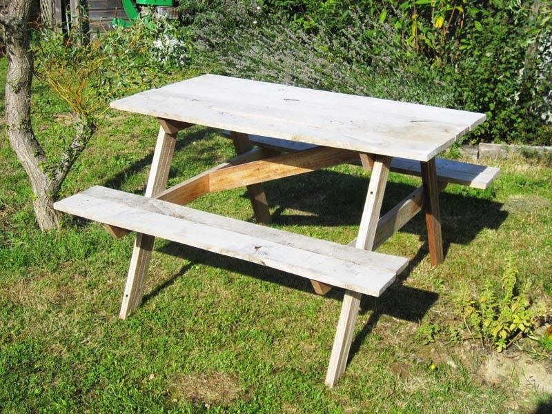 Bricolage Père / Fille : Table De Jardin ~ Au 303 Home Deco
