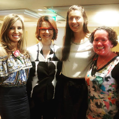 Mel Thomas, Julia Gillard, Parrys Raines and I