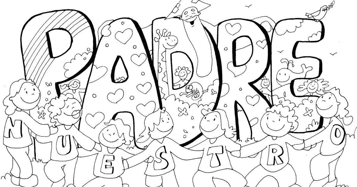 La Catequesis (El blog de Sandra): Colorea cartel PADRE NUESTRO con ...