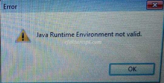 efaktur error Java Runtime Environment Not Valid