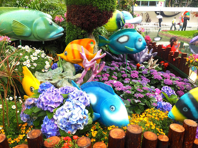 Ocean Park floral display at Hong Kong Flower Festival 2017