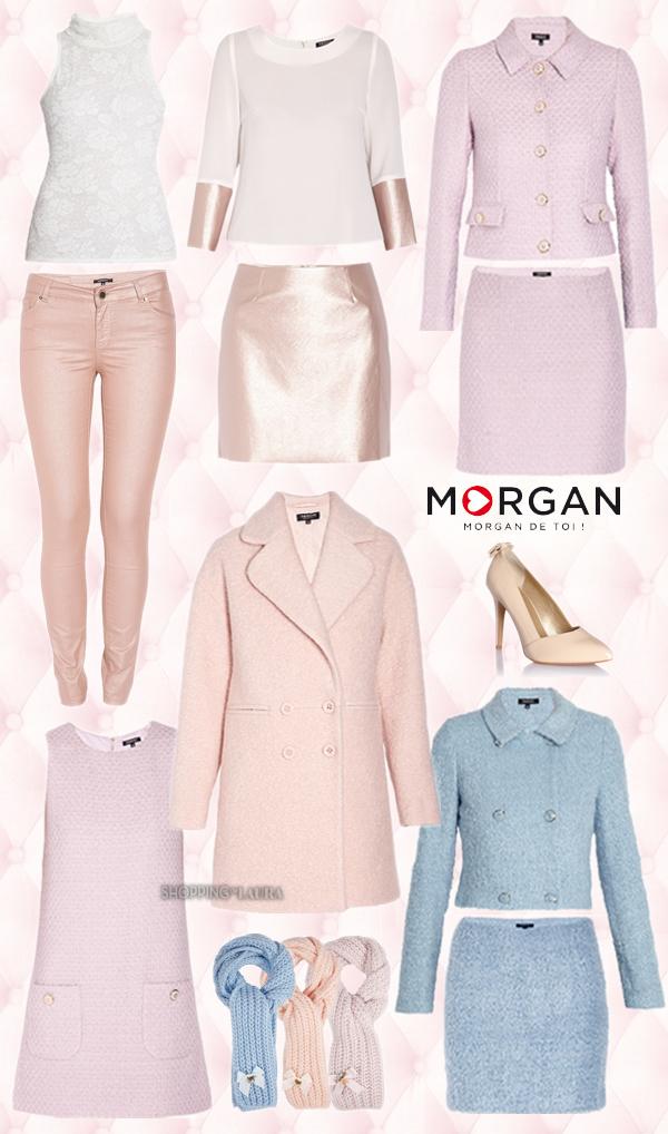 Le rose poudré à la mode cet hiver chez MORGAN