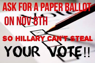 HIllary Cheats Use Paper Ballots for the coming recount
