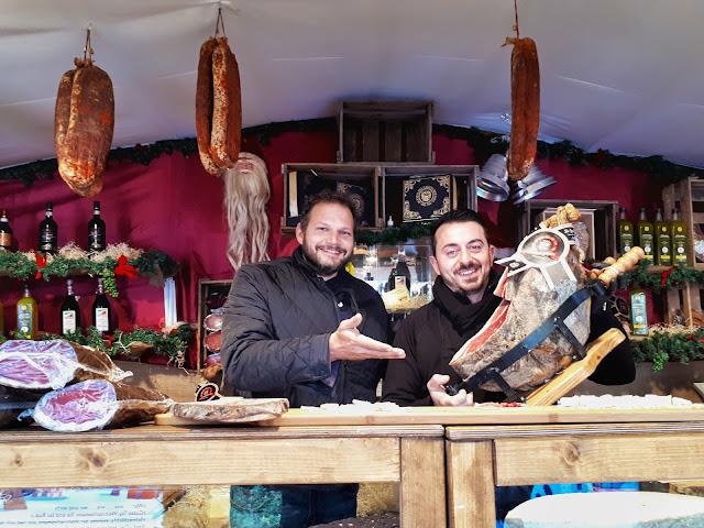 Baden Baden Christmas Market Italian food stall