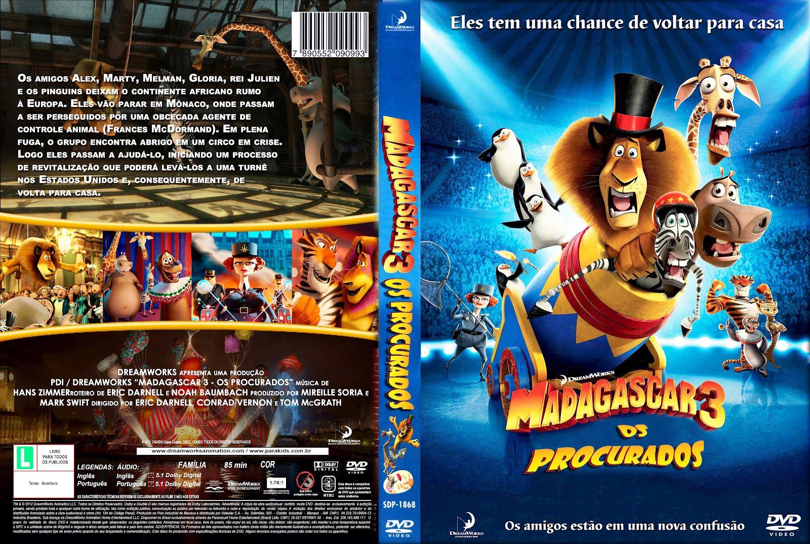DUBLADO BAIXAR PROCURADOS MADAGASCAR OS 3
