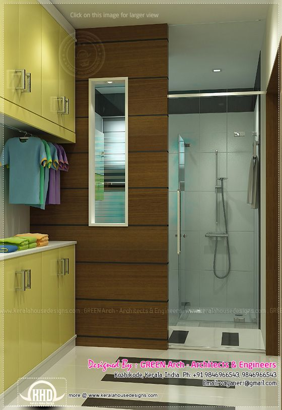 Beautiful home interior designs by green arch kerala for Bathroom interior design in kerala