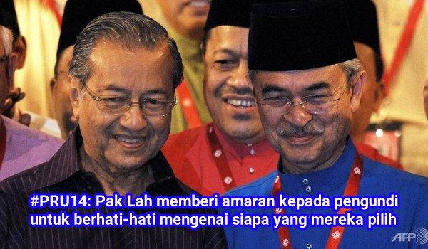 #PRU14: Seorang lagi PM yang dihina oleh Mahathir, Abdullah Badawi memberi amaran kepada pengundi untuk berhati-hati mengenai siapa yang mereka pilih