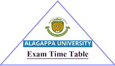 Alagappa University Exam Time Table Nov Dec 2018