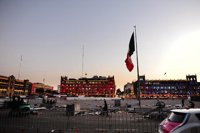 trg Zocalo, prestop v Mexico City