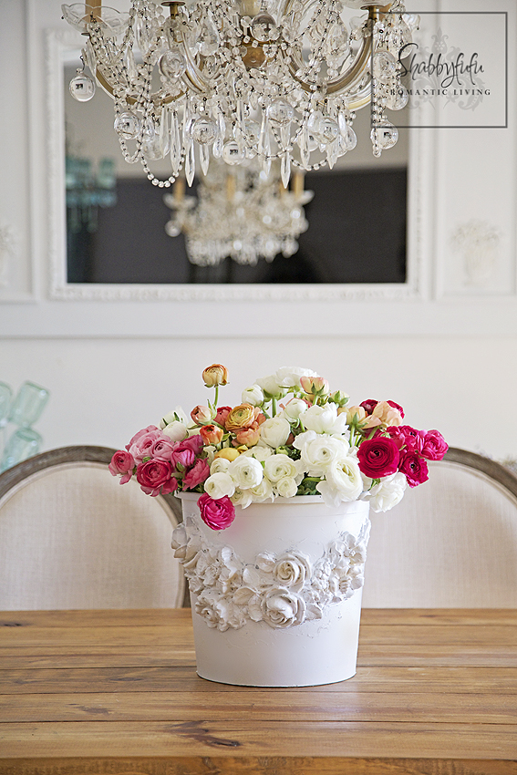 beautiful flower bucket ranunculus