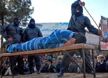 Cristiano recibiendo latigazos en Irán