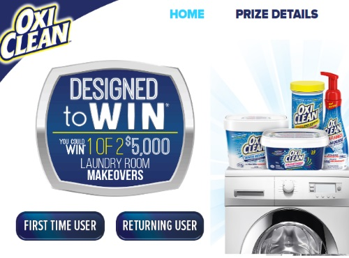 OxiClean Designed to Win Laundry Room Makeover Contest