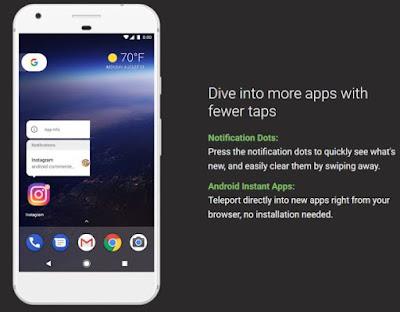 Fitur Baru Notification Dots Android Oreo Untuk Update Pemberitahuan Langsung