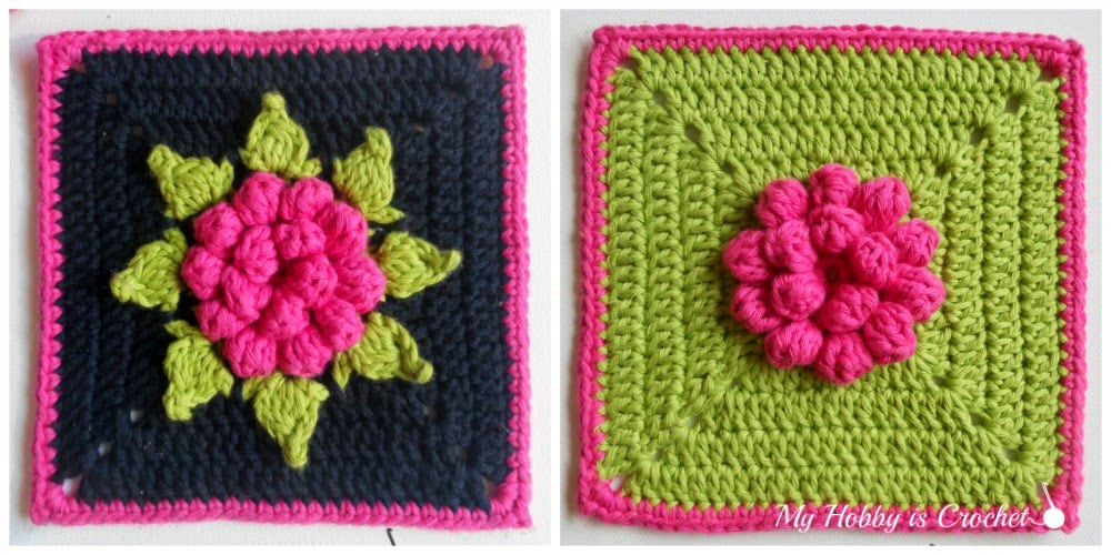 Dahlia in a square - Granny Square - Free Pattern with Tutorial