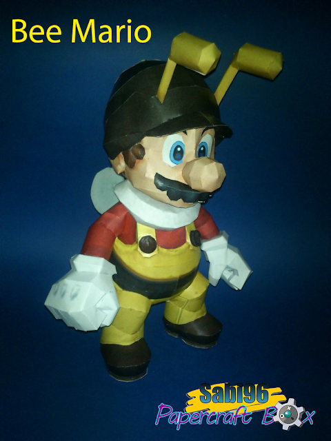 Super Mario Galaxy Bee Mario Paper Model