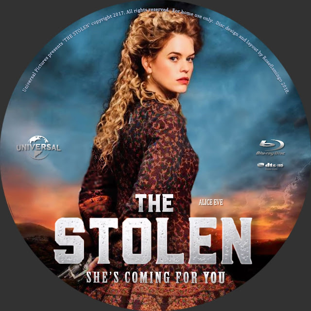 Stolen Bluray Label