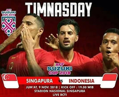 Live Streaming Singapore vs Indonesia AFF Suzuki 2018 9.11.2018