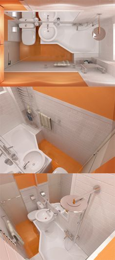 triki do małej łazienki
