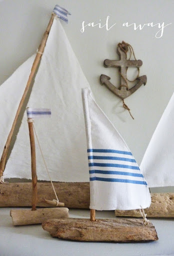 DIY Decorative Driftwood Sailboats