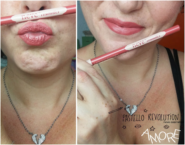 amore applicazione makeup BioPastello labbra Neve Cosmetics  pastello revolution
