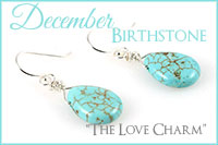 December Birthstone: The Love Charm -Crystal Allure Beaded Jewelry Creations