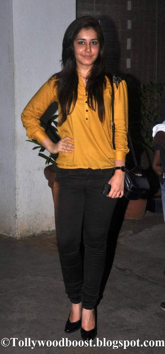 Rashi Khanna With Out Makeup Face Photos In Yellow Dress