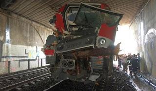 fotografia comboio que teve acidente em Saint aunes