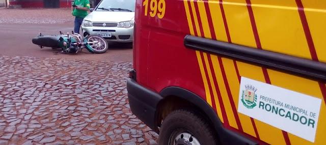 Roncador: Veículo de Manoel Ribas se envolve em acidente na Avenida São Pedro, em Roncador