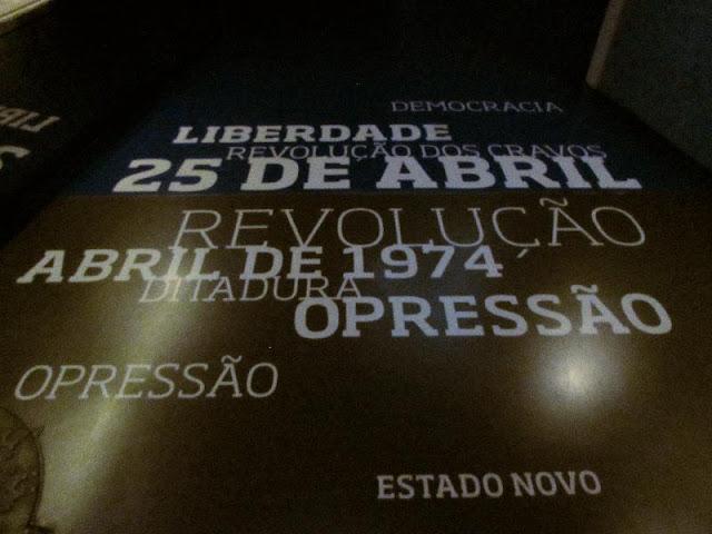 REferência ao 25 de Abril no Museu do FC Porto