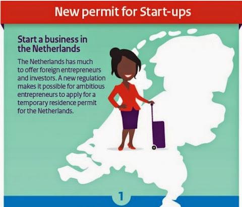 圖說: 針對新創家的新居留申請,圖片來源: 荷蘭經濟部