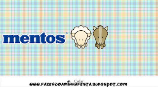 Etiquetas de Mentos de La Granja Bebés en Celeste para imprimir gratis.